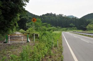 旧道と新道
