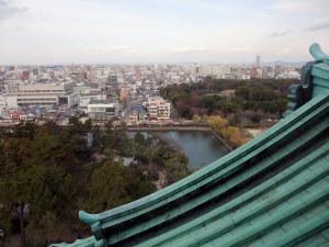 最上階からの名古屋市内の眺め