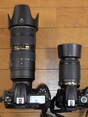 AF-S 70-200mm f/2.8Gとの比較
