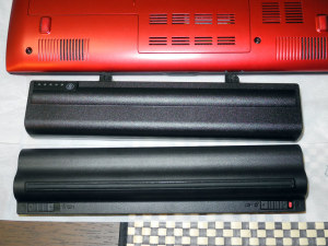 XPS M1210のバッテリと比較