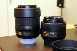 AF-S DX 18-55mm f3.5-5.6G VRとのサイズ比較