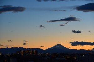 強風去った後の富士山