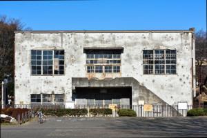 旧日立航空機立川工場変電所正面