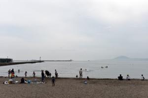 七重浜の海水浴場