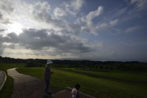 八雲町噴火湾パノラマパークからの眺め