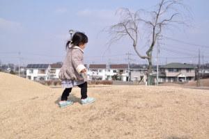 娘と公園で