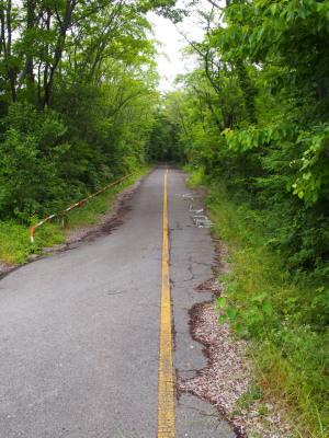 道路は奥まで続く