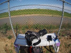 脚立と撮影機材