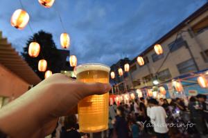 お祭りでビール