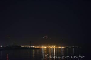 フェリー埠頭から望む函館山