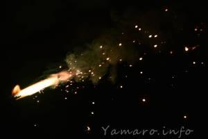 花火をシャッタースピード上げて撮影