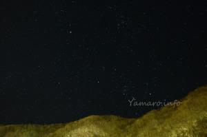 湯西川の星空