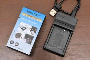 WELLSKYのBLE9/BLG10用互換充電器