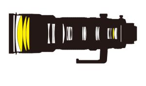 AF-S NIKKOR 200-400mm f/4G ED VR IIの光学断面図