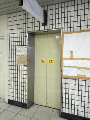 トマソンと化したエレベーター