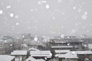 降雪をスピードライトで表現