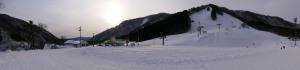 大穴スキー場をパノラマ撮影
