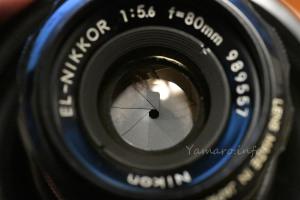 EL-NIKKOR 80mm F5.6の絞り(F45)