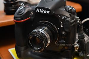 EL-NIKKOR 80mm F5.6をD810に装着