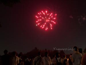朝霞駐屯地の花火