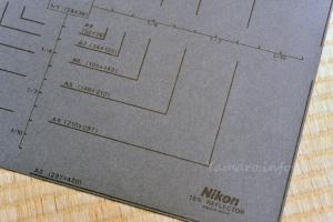 Nikonの標準反射板は大きめ
