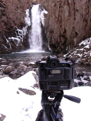 千ヶ滝をF90Xで撮る