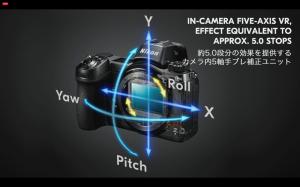 5段分の補正が可能なセンサーシフト式VR