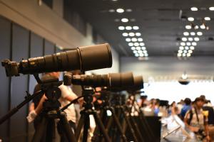 望遠レンズのデモ