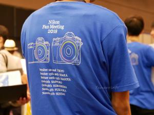ニコンファンミーティング2018のスタッフTシャツ