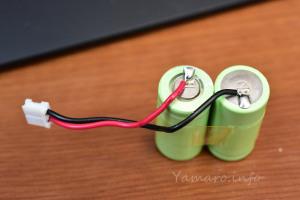JIMBO SNL-BTのハーネスは電池にはんだ付けされている