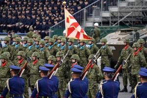 儀仗隊と普通科部隊