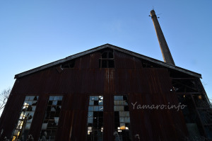 機罐場と煙突