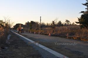 霞ヶ浦分院前は道路工事中でした