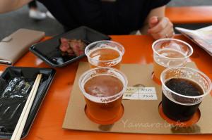 肉フェスでラガービールの見比べ