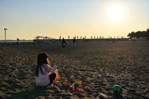 砂浜で遊べる城南島海浜公園