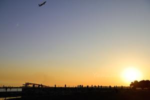 夕暮れの城南島海浜公園