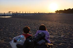 城南島海浜公園でおやつ
