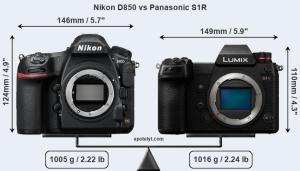 Nikon D850 VS Panasinic S1R