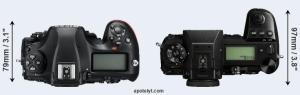 Nikon D850 vs Panasinic S1R Top