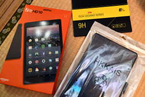 Amazon Fire HD 10とカバー