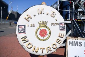 英フリゲート「モントローズ」の紋章