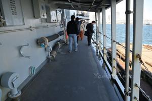 割と広めの甲板通路