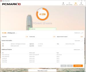 PC Mark10で計測(Ryzen 7 2700X + Quadro K2200