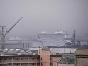 函館公会堂付近から眺める函館港