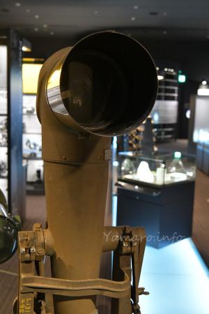 3メートル望遠写真機のレンズ先端