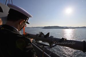 護衛艦「きりしま」の測距儀