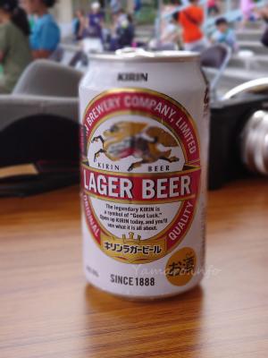 ラガービールの麒麟がぼけている…