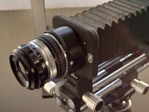 Nikon D810 + EL-NIKKOR 135mm f/5.6 (PB-4) + PK-13
