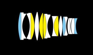 NIKKOR Z 58mm f/0.95 S Noctの光学断面図