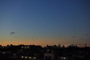 台風一過の夜明け